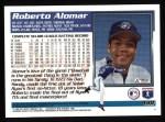 1995 Topps #438  Roberto Alomar  Back Thumbnail