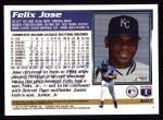 1995 Topps #607  Felix Jose  Back Thumbnail