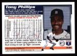 1995 Topps #541  Tony Phillips  Back Thumbnail
