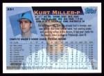 1995 Topps #251  Kurt Miller  Back Thumbnail