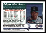 1995 Topps #55  Edgar Martinez  Back Thumbnail