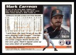 1995 Topps #361  Mark Carreon  Back Thumbnail