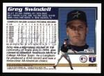 1995 Topps #285  Greg Swindell  Back Thumbnail