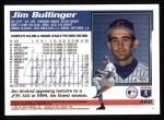 1995 Topps #428  Jim Bullinger  Back Thumbnail