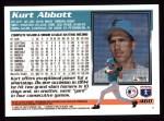 1995 Topps #460  Kurt Abbott  Back Thumbnail