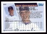 1995 Topps #241  Jeff Granger  Back Thumbnail