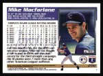 1995 Topps #296  Mike Macfarlane  Back Thumbnail