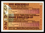 1995 Topps #638  Jose Mercedes  Back Thumbnail