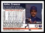 1995 Topps #280  John Franco  Back Thumbnail