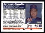 1995 Topps #366  Jeromy Burnitz  Back Thumbnail