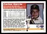 1995 Topps #515  Carlos Garcia  Back Thumbnail