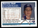 1995 Topps #174  Darren Hall  Back Thumbnail