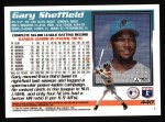 1995 Topps #440  Gary Sheffield  Back Thumbnail