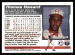 1995 Topps #381  Thomas Howard  Back Thumbnail