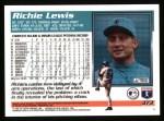 1995 Topps #373  Richie Lewis  Back Thumbnail