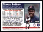 1995 Topps #104  Kenny Lofton  Back Thumbnail