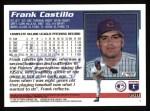 1995 Topps #358  Frank Castillo  Back Thumbnail