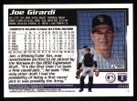 1995 Topps #539  Joe Girardi  Back Thumbnail