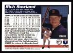 1995 Topps #272  Rich Rowland  Back Thumbnail