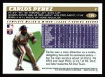 1996 Topps #174  Carlos Perez  Back Thumbnail