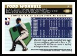 1996 Topps #412  Todd Worrell  Back Thumbnail