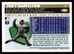 1996 Topps #403  Joey Hamilton  Back Thumbnail
