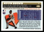 1996 Topps #376  Kevin Brown  Back Thumbnail
