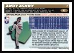 1996 Topps #82  Andy Ashby  Back Thumbnail