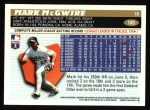1996 Topps #145  Mark McGwire  Back Thumbnail