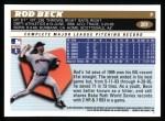 1996 Topps #201  Rod Beck  Back Thumbnail