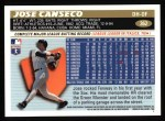 1996 Topps #362  Jose Canseco  Back Thumbnail