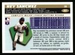 1996 Topps #287  Rey Sanchez  Back Thumbnail