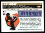 1996 Topps #59  J.T. Snow  Back Thumbnail