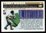 1996 Topps #363  Larry Walker  Back Thumbnail