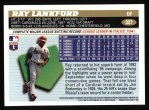 1996 Topps #327  Ray Lankford  Back Thumbnail
