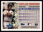 1996 Topps #226  Carlos Baerga  Back Thumbnail