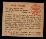 1950 Bowman #70  Paul Salata  Back Thumbnail
