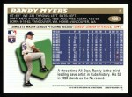 1996 Topps #198  Randy Myers  Back Thumbnail