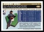 1996 Topps #341  Donne Wall  Back Thumbnail