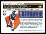 1996 Topps #39  Tom Goodwin  Back Thumbnail