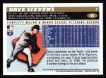 1996 Topps #88  Dave Stevens  Back Thumbnail
