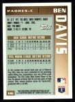 1996 Topps #16  Ben Davis  Back Thumbnail