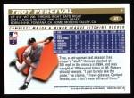 1996 Topps #43  Troy Percival  Back Thumbnail