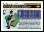 1996 Topps #381  Jaime Navarro  Back Thumbnail