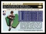 1996 Topps #406  Jeff Blauser  Back Thumbnail