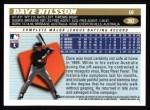 1996 Topps #302  Dave Nilsson  Back Thumbnail