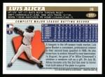 1996 Topps #377  Luis Alicea  Back Thumbnail