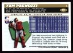 1996 Topps #131  Tom Pagnozzi  Back Thumbnail