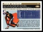1996 Topps #349  John Wasdin  Back Thumbnail