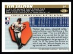 1996 Topps #319  Tim Salmon  Back Thumbnail